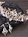 Pentru femei Cristal Set bijuterii - Floare De Bază, Natură Include Tiare Alb / Roz Pentru Nuntă / Aniversare / Evenimente / Petrecere / Logodnă