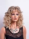 Peruki syntetyczne Curly Styl Z grzywką Bez czepka Peruka Blond Blond Włosie synetyczne Damskie Blond Peruka Długość średnia Peruka naturalna