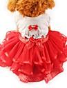 Katt Hund Smoking Klänningar Hundkläder Rosett Gul Röd Grön Chiffong Cotton Kostym För husdjur Dam Fest Ledigt/vardag Bröllop
