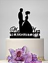 Vârfuri de Tort Cuplu Clasic Nuntă Temă Clasică Romantic Nuntă Sac poli
