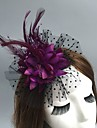 Net Fascinators / Hats / Headwear with Floral 1pc Wedding / Special Occasion / Party / Evening Headpiece