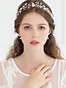 Cristal Imitație de Perle Ștras Diademe Banderolele Flori 1 Nuntă Ocazie specială Aniversare Zi de Naștere Party / Seara Diadema
