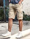 Bărbați Mărime Plus Size Casual Talie Medie, Inelastic Larg Relaxat Pantaloni Scurți Pantaloni Bumbac Mată Vară