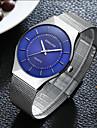 Herre Sportsur Armbåndsur Quartz Sølv Vandafvisende Kreativ Analog Vedhæng Afslappet Mode Elegant - Hvid Sort Blå / Rustfrit stål