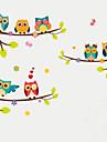 Djur Mode Botanisk Väggklistermärken Väggstickers Flygplan Dekrativa Väggstickers Höjdmätarstickers, Plast Hem-dekoration vägg~~POS=TRUNC