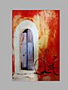 Peint a la main Abstrait Format Vertical, Plage Toile Peinture a l\'huile Hang-peint Decoration d\'interieur Un Panneau