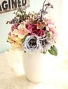 1 Gren Polyester Roser Hortensior Bordsblomma Konstgjorda blommor