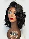 Perruque Cheveux Naturel Remy Lace Frontale Sans Colle Lace Frontale Cheveux Bresiliens Ondulation Lache Bob Coupe Carre 130% avec des cheveux de bebe Ligne de Cheveux Naturelle Perruque