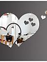 Speglar Väggklistermärken Väggstickers i 3D Spegel Dekrativa Väggstickers, Plast Vinyl Hem-dekoration vägg~~POS=TRUNC Vägg