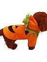 Câine Costume Îmbrăcăminte Câini Cosplay Halloween Solid Portocaliu