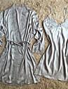 Pentru femei Capoate Satin & Mătase Costume Pijamale Sexy Retro Solid