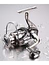 Carrete de la pesca / Carrete de pesca Teniendo Carretes para pesca spinning 5.2:1 Relacion de transmision+13 Rodamientos de bolas Orientacion de las manos Intercambiable Pesca de agua dulce / Pesca