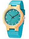 Bărbați Ceas de Mână Unic Creative ceas Ceas Casual Ceas Lemn Ceas Sport Ceas La Modă Quartz de lemn Piele Autentică Bandă Lux Creative