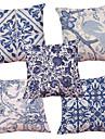 5 buc Chenille Natural/Organic Față de pernă Față de Pernă,Texturat Retro Tradițional/Clasic Suport Euro Stiluri de Plajă