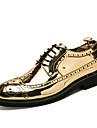 Bărbați Pantofi Microfibră PU sintetică Primăvară Toamnă Pantofi de scufundări Pantofi formale Oxfords Dantelă pentru Nuntă Casual Birou