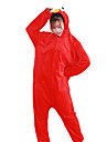 Pyjamas Kigurumi Cookie Anime / Dessin-Anime Combinaison de Pyjamas Costume Flanelle Rouge / Bleu Cosplay Pour Adulte Pyjamas Animale
