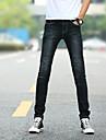 Bărbați Zvelt Șic Stradă Talie Medie,Micro-elastic Blugi Pantaloni Mată