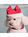Câine Bandane & Căciuli Îmbrăcăminte Câini Mată Rosu / Albastru Bumbac Costume Pentru animale de companie Bărbați / Pentru femei Crăciun