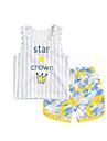 Bebelus Copii Casul/Zilnic Dungi Set Îmbrăcăminte Vară