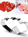 valentine kärlek hjärta till hjärta form cookie cutter, rostfritt stål