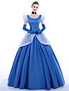 Prințesă Queen Costume Cosplay Costume petrecere Mascaradă Cosplay de Film Rochie Mănuși Combinezon Cordeluțe Crăciun Halloween Carnaval