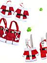 6pcs / set Crăciun ornament noul an Crăciun decor pentru acasă de masă decor tacâmuri furculita furculiță&Cuțit pentru tacamuri cu