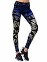 BARBOK Dam Yoga byxor sporter Mode Elastan Cykling Tights Pilates, Löpning Sportkläder Stretch Elastisk