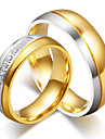 Bărbați Pentru femei Inele Cuplu Zirconiu Cubic Elegant Modă Oțel Titan Rotund Costum de bijuterii Nuntă Logodnă Ceremonie