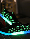Bărbați Adidași Pantofi Usori Confortabili Tălpi cu Lumini Microfibră PU sintetică Primăvară Toamnă Casual Party & Seară Dantelă Toc Plat
