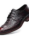 Homme Chaussures Cuir Printemps / Automne Nouveaute / Chaussures formelles Oxfords Noir / Jaune / Rouge / Soiree & Evenement