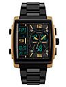 SKMEI Bărbați Ceas Sport / Ceas de Mână / Ceas digital Japoneză Alarmă / Calendar / Cronograf PU Bandă Modă Negru / Rezistent la Apă / Zone Triple De Timp / Cronometru / Iluminat / Doi ani