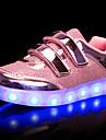 Fete Adidași Pantofi Usori Sintetic Toamnă Iarnă Nuntă Casual LED Toc Jos Auriu Argintiu Roz Sub 2.5 cm