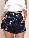 Pentru femei Talie Inaltă Zvelt Pantaloni Scurți Pantaloni Chinos Pantaloni - Imprimeu