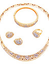 Pentru femei Set bijuterii - Placat Auriu Clasic, stil minimalist, Modă Include Lănțișor Auriu Pentru Nuntă / Petrecere / Logodnă