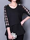 Damă Rotund Bluză Casul/Zilnic Plus Size Simplu(ă),Imprimeu Manșon Jumate Vară-Mediu Acrilic