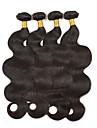 Cheveux Bresiliens Ondulation naturelle / Ondulation Lache Tissages de cheveux humains 4 offres groupees 8-26pouce Tissages de cheveux