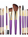 Professionel Make-up pensler Brush Sets 12pcs Syntetisk Hår Bøg Makeupbørster til Eyelinerbørste Blush-børste Foundationbørste Læbebørste -jenbryn børste -jenskyggebørste -jenvippebørste