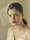 Un nivel Margine Tăiată Voal de Nuntă Voaluri de Obraz Cu Volane Tulle