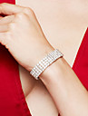 Pentru femei Lantul de tenis Bratari de tenis / Brățară - Ștras, Argilă, Diamante Artificiale Lux, Modă, Elegant Brățări Argintiu Pentru Nuntă / Petrecere / Aniversare