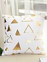 1 pcs Coton Housse de coussin,Formes Geometriques Imprime Geometrique Avec motifs Mode