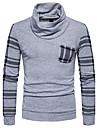 Bărbați Casul/Zilnic Regular Cardigan-Bloc Culoare Manșon Lung Halter Poliester Toamnă Iarnă Mediu Micro-elastic