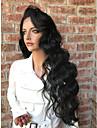 Ljudska kosa Full Lace Perika Stepenasta frizura stil Brazilska kosa Wavy Perika 130% Gustoća kose s dječjom kosom Prirodna linija za kosu Za crnkinje 100% Djevica neprerađenih Žene Kratko Srednja