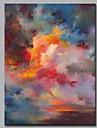 HANDMÅLAD Abstrakt Vertikal, Artistisk Abstrakt Födelsedag Yrke/Affär Modern Nyår Jul Duk Hang målad oljemålning Hem-dekoration En panel