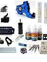 Tattoo Machine Startkit 1 x roterande tatueringsmaskin för linjer och skuggning LCD strömförsörjning 1 x Aluminium handtag 1 x