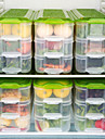 3 strat de protecție a mediului înconjurător transparente de depozitare a alimentelor din plastic