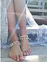Diamant sintetic Franjuri Brățară Gleznă - Imitație de Perle, Diamante Artificiale Picătură Personalizat, Modă Auriu / Argintiu Pentru Zilnic / Casual / Dată / Pentru femei