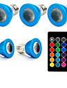 1set 3W 240 lm E27 LED-spotlights 1 lysdioder Högeffekts-LED Fjärrstyrd Dekorativ RGB AC85-265
