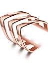 Pentru femei Bijuterii Personalizat Modă Ajustabile Cute Stil Oțel titan Argilă Placat Auriu Geometric Shape neregulat Bijuterii