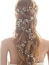Cristal Imitație de Perle Banderolele Instrumentul pentru păr Lantul Capului 1 Nuntă Party / Seara Diadema