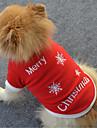 Câine Hanorca Îmbrăcăminte Câini Casul/Zilnic Fulg zăpadă Alb Rosu